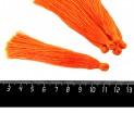 Кисточка 9-9,5 см, цвет яркий оранжевый, полиэстр, 6 штук/упаковка 060682 - 99 бусин