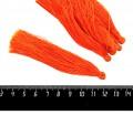Кисточка 9-9,5 см, цвет оранжевый, полиэстр, 6 штук/упаковка 060683 - 99 бусин