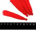 Кисточка 9-9,5 см, цвет красный, полиэстр, 6 штук/упаковка 060685 - 99 бусин
