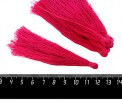 Кисточка 9-9,5 см, цвет маджента, полиэстр, 6 штук/упаковка 060687 - 99 бусин