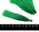 Кисточка 9-9,5 см, цвет лесной зеленый, полиэстр, 6 штук/упаковка 060696 - 99 бусин