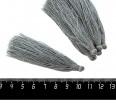 Кисточка 9-9,5 см, цвет стальной серый, полиэстр, 6 штук/упаковка 060701 - 99 бусин