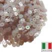 Пайетки Италия плоские 3 мм Caramello Trasparente Iridato I04 (карамельный прозрачный радужный) 3 грамма 060783 - 99 бусин