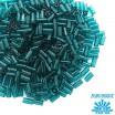 Стеклярус TOHO BUGLE 3 мм № 0007BD тёмная морская волна прозрачный 5 граммов Япония 060806 - 99 бусин