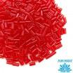 Стеклярус TOHO BUGLE 3 мм № 0005C гранатовый прозрачный 5 граммов Япония 060811 - 99 бусин