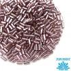 Стеклярус TOHO BUGLE 3 мм № 0026 бледно-сиреневый, серебристое отверстие 5 граммов Япония 060824 - 99 бусин