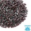 Стеклярус TOHO BUGLE 3 мм № 0046 горький шоколад 5 граммов Япония 060840 - 99 бусин