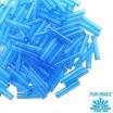 Стеклярус TOHO BUGLE 9 мм № 0003B голубой прозрачный 5 граммов Япония 060864 - 99 бусин
