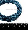 Натуральный камень ГЕМАТИТ с покрытием под ПИРИТ кубик 3*3 мм, цвет синий, 40 см/нить 061110 - 99 бусин