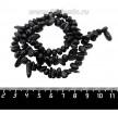 Натуральный камень ОБСИДИАН галтовка Округлая 7*5*5 - 16*7*4 мм, цвет черный, 40 см/нить 061212 - 99 бусин