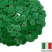 Пайетки Италия лаковые 5 мм цвет Verde (тропический зеленый) 3 грамма 061228 - 99 бусин