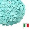 Пайетки Италия лаковые 4 мм цвет Ciano (морская волна) 3 грамма 061233 - 99 бусин