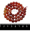 Натуральный камень СЕРДОЛИК, бусина Граненая 8 мм, терракотово-оранжевые тона, 37 см/нить 061440 - 99 бусин
