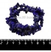 Натуральный Камень ЛАЗУРИТ крошка 6*5*4 - 13*7*5 мм, синие с золотистыми и серыми вкраплениями тона,  42 см/нить 061450 - 99 бусин