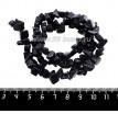Натуральный камень АВАНТЮРИН (имитация) крошка 6*6*4 - 11*7*5 мм, синие искристые тона, 43 см/нить 061451 - 99 бусин