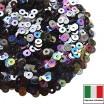 Пайетки Италия плоские 3 мм Luna metall. Iridato MI08 (Гематит радужный металлик) 3 грамма 061495 - 99 бусин