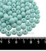 Бусины пластик 8 мм, цвет пастельный бирюзовый, 79 штук/упаковка 061552 - 99 бусин