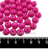 Бусины пластик 10 мм, цвет розовый Барби, 40 штук/упаковка 061557 - 99 бусин