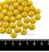 Бусины пластик 10 мм, цвет желтый, 40 штук/упаковка 061566 - 99 бусин