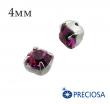 Шатоны (стразы) PRECIOSA пришивные хрустальные, размер ss-16 (4 мм), цвет Fuchsia/silver, 10 штук/упаковка, Чехия 061581 - 99 бусин