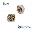 Шатоны (стразы) PRECIOSA пришивные хрустальные, размер ss-16 (4 мм), цвет Light Peach/silver, 10 штук/упаковка, Чехия 061589 - 99 бусин