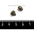 Бейл Цветочный, 8*9*6 мм, цвет бронза, 1 штука 061603 - 99 бусин