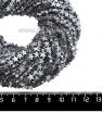 Натуральный камень ГЕМАТИТ форма Звездочка 6*2 мм, покрытие серебро, около 20 см/42 шт/нить 061674 - 99 бусин