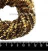 Натуральный камень ГЕМАТИТ форма Звездочка 6*2 мм, покрытие тёмное золото, около 20 см/42 шт/нить 061675 - 99 бусин