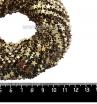 Натуральный камень ГЕМАТИТ форма Звездочка 6*2 мм, покрытие античное золото, около 20 см/42 шт/нить 061676 - 99 бусин