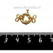 Замок-кольцо 11 мм на 2 нити, цвет золото 1 штука 061688 - 99 бусин