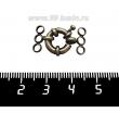 Замок-кольцо 11 мм на 3 нити, цвет бронза 1 штука 061691 - 99 бусин