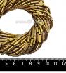 Натуральный камень ГЕМАТИТ форма Столбик 9*3 мм, покрытие темное античное золото, около 40 см/44 шт/нить 061705 - 99 бусин