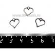 Подвеска, нержавеющая сталь, Сердечко Силуэт 11*11 мм, 3 штуки/упаковка 061721 - 99 бусин