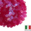 Пайетки 4 мм Италия плоские, цвет 0132 Fucsia Irise Trasparenti (Фуксия прозрачный ирис) 3 грамма (ок.900 штук) 061726 - 99 бусин