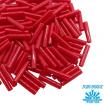 Стеклярус TOHO BUGLE 9 мм № 0045 темно-красный непрозрачный 5 граммов Япония 061747 - 99 бусин