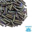 Стеклярус TOHO BUGLE 9 мм № 0614 матовый фиолетово-серый меланж 5 граммов Япония 061750 - 99 бусин