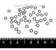 Разделитель Одуванчик 6,5*1,5 мм, цвет старое серебро 40 штук/упаковка 061778 - 99 бусин