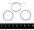Коннектор нержавеющая сталь Колечко 28*1 мм цвет стальной 1 штука 061779 - 99 бусин