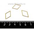 Коннектор нержавеющая сталь оксид титана Ромб 20*13*1 мм цвет золото 1 штука 061783 - 99 бусин