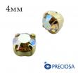 Шатоны (стразы) PRECIOSA пришивные хрустальные, размер ss-16 (4 мм), цвет Jonquil AB/gold, 10 штук/упаковка, Чехия 061817 - 99 бусин