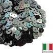 Пайетки Италия плоские 4 мм Verde Luna metall. Iridato MI39 (Гематит зеленоватый металлик) 3 грамма 061858 - 99 бусин