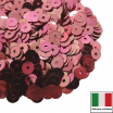 Пайетки Италия METAL 4 мм плоские цвет M13 Corallo (коралловый тёмный металлик) 3 грамма 061861 - 99 бусин