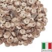 Пайетки Италия лаковые ЧАША 4 мм цвет Tortora (Крем-карамель) 3 грамма 061895 - 99 бусин