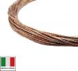 Проволока DRAGON metal Италия в обмотке цвет Oro Rosa (розовое золото) 0,3 мм, упак 5 м 061906 - 99 бусин