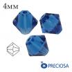Биконусы хрустальные Preciosa 4 мм Capri Blue 20 штук/упаковка 061915 - 99 бусин