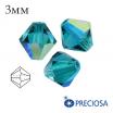 Биконусы хрустальные Preciosa 3 мм Blue Zircon AB 20 штук/упаковка 061938 - 99 бусин
