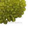 Бусины стеклянные граненые 3 мм Винтаж Чехия цвет оливковый 40 шт/упаковка 061966 - 99 бусин