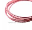 Канитель жесткая 1 мм, цвет нежно-розовый Индия, упаковка 5 грамм (общая длина около 1,25 метров) 061969 - 99 бусин
