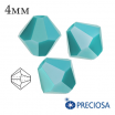 Биконусы хрустальные Preciosa 4 мм Turquoise 20 штук/упаковка 061983 - 99 бусин