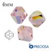 Биконусы хрустальные Preciosa 4 мм Light Rose AB 20 штук/упаковка 062005 - 99 бусин